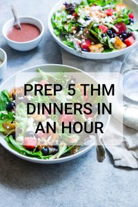 6th in the Series, Prepping 5 THM S, Low Carb Dinners in an Hour