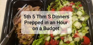 5th in My Series Prepping 5 Low Carb, THM S Dinners in an Hour on a Budget