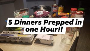 5 Trim Healthy Mama Dinners Prepped in Hour