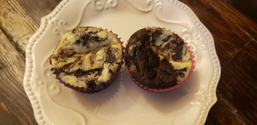 Low Carb Black Bottom Cupcakes